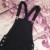 2017 de La Moda vendaje de las mujeres atractivas del otoño del resorte del mono negro monos flacos ocasionales agujero bolsillo botón lápiz delgado femme mameluco