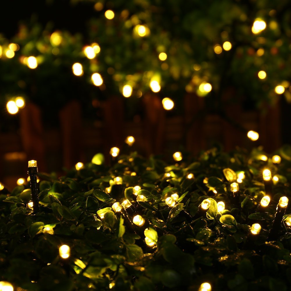 Solar Christmas Lights 200 LED String Lights Ambiance Lighting for Outdoor, Patio, Lawn, Landscape, Fairy Garden, Home, Wedding