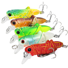 5Pcs/set Grasshopper Insect Baits Fishing Lures Wobblers Crankbaits for Carp Lifelike Hard Plastic Pesca Isca Bass