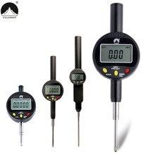 Цифровой циферблатный индикатор 0-10/12. 7/25. 4/50/100 мм дюймов/метрики Электронный индикатор для зонда Тесты датчик измерительного прибора