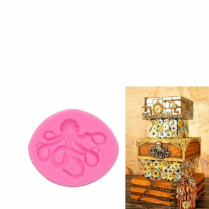 Octopus Sugar Cake Silicone Mold Handmade Chocolate Crafts Gadgets Dessert Decorative Molds DIY Pastry Baking Tools candy mold