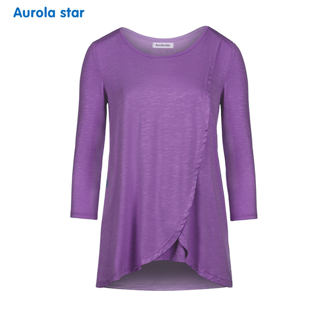 Breastfeeding Maternity Clothing Top Nursing Blouses For Pregnancy Women Long Sleeve Nursing Blouse Top Plus Size Women Clothing 3