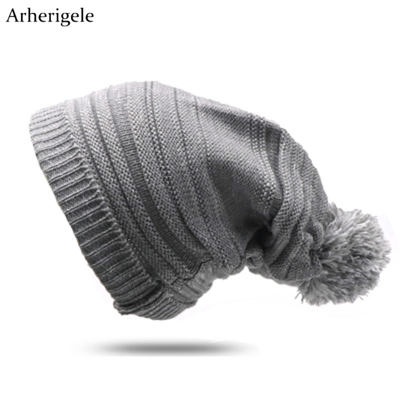 Arherigele Fashion Pom Poms   Beanies   Hat for Women and Men Cap Warm Winter Knitted Cap Unisex Hip Hop Cap Hat   Skullies     Beanies