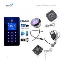 Новое поступление bluetooth и MP3 USB душевая fm радио управления, O3 душевая кабина control Pad комплекты