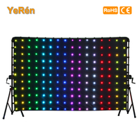 LED Drape Backdrop Video Curtain P18 2x3m 6.6x9.8ft Tri color LED Lamp SD Controller DMX Controller