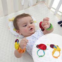 2 PCS Baby Wrist Socks Toys Bracelet Foot Rattles Garden Protect Wrist Animal Wrist Stripe Foot Ring Socks Gift