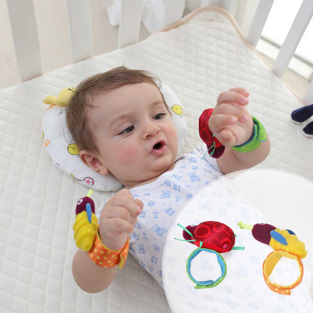 2 ชิ้นเด็กนาฬิกาข้อมือถุงเท้าของเล่นสร้อยข้อมือ Rattles การ์เด้นปกป้องนาฬิกาข้อมือสัตว์นาฬิกาข้อมือลายเท้าถุงเท้าของขวัญ