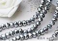 Placa de prata Cor 2mm, 3mm, 4mm, 6mm, 8mm 10mm, 12mm 5040 # AAA Top Quality solto Cristal Rondelle grânulos de Vidro
