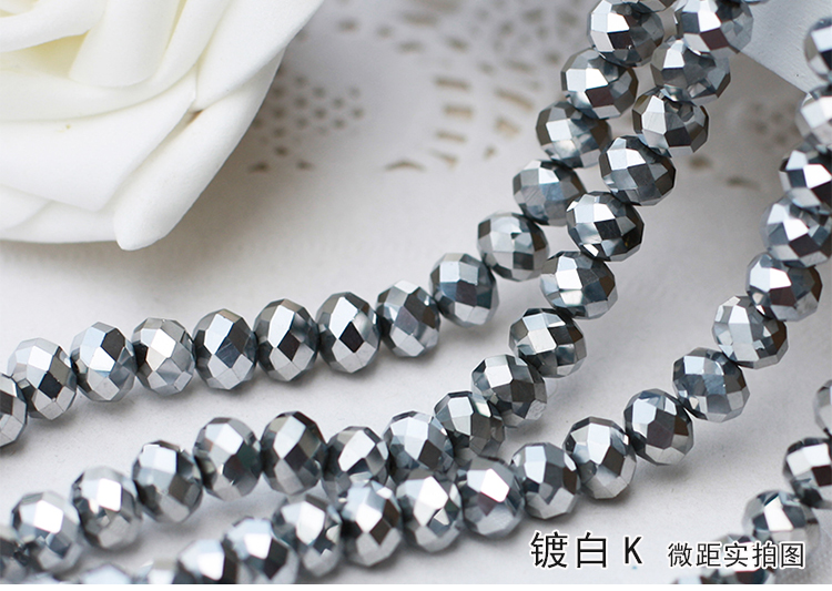 Silver Plate Color 2mm,3mm,4mm,6mm,8mm 10mm,12mm 5040# AAA Top Quality loose Crystal Rondelle Glass beads free shipping aaa 5301 white opal color 3mm 4mm 5mm 6mm 8mm crystal glass bicone beads
