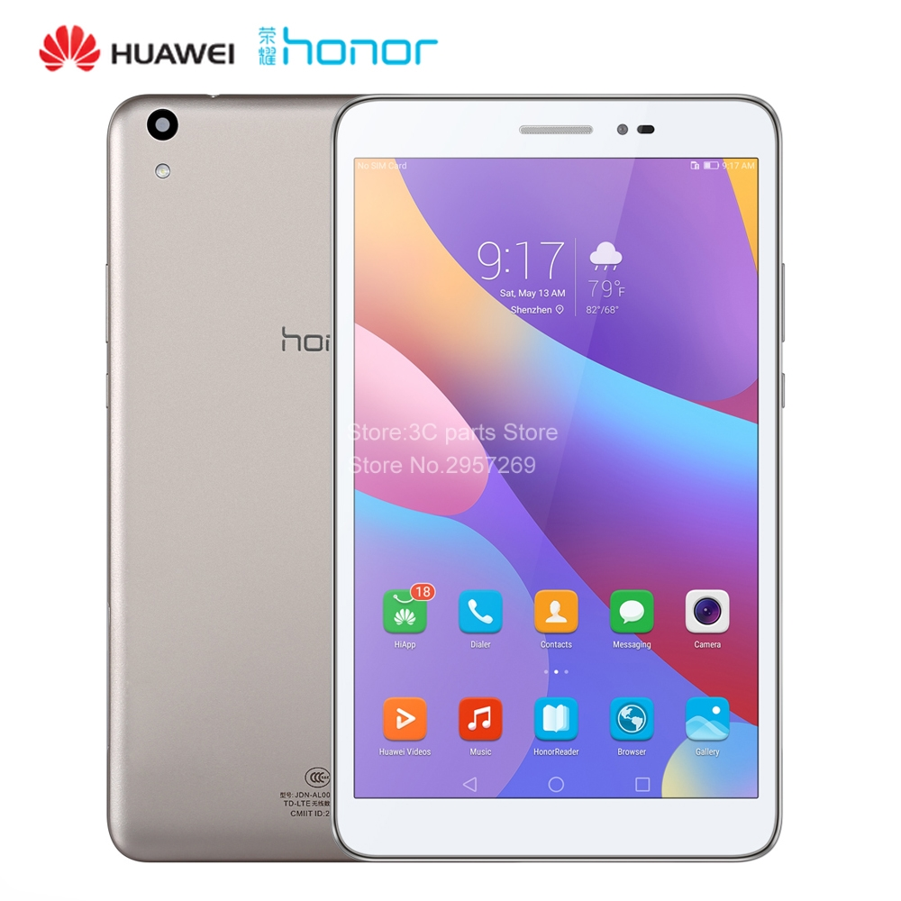 Huawei honor <font><b>tablet</b></font> 2 LTE 3g Ram 32g Rom 8 zoll Qualcomm Snapdragon 616 Andriod <font><b>6</b></font> 8.0MP 4800 mah IPS 1920*1200 <font><b>tablet</b></font> pc JDN-AL00 image