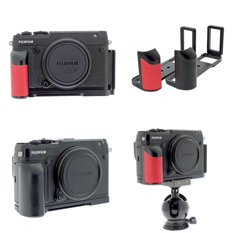 Peipro Aviation en alliage d'aluminium quick Release L-plaque support caméra poignée de sécurité pour FUJIFILM GFX-50R/GFX50R L-plaque caméras