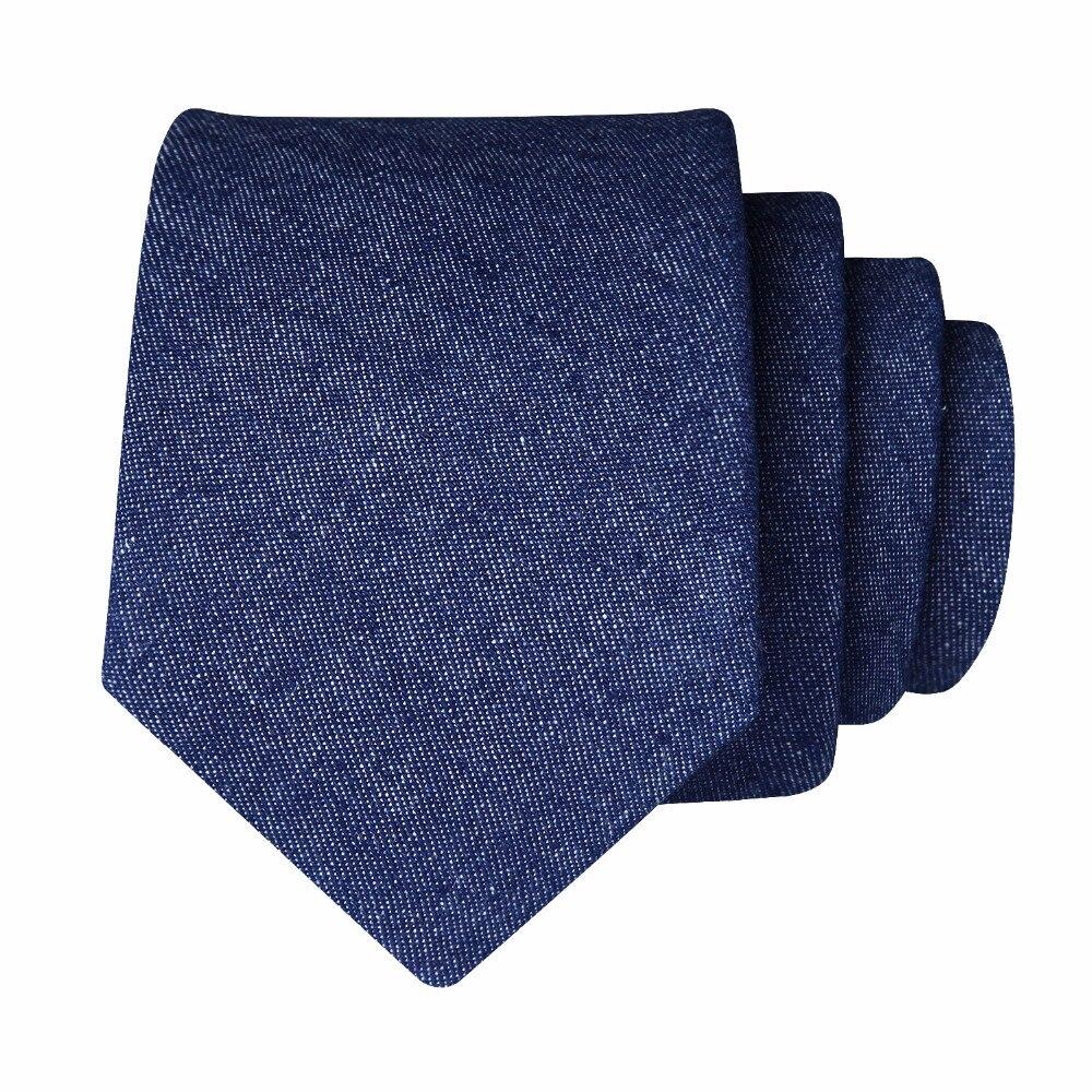 6cm Soild 2.36Cotton skinny jean tie for Men Wedding Party Slim Gravatas Corbatas Narrow Woven Classic Men Tie Necktie
