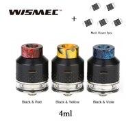 Original WISMEC KESTREL Atomizer 4ml Tank with coil less Design & 5pcs Innovative MESH Heater for Luxotic Surface vs Cubix Max