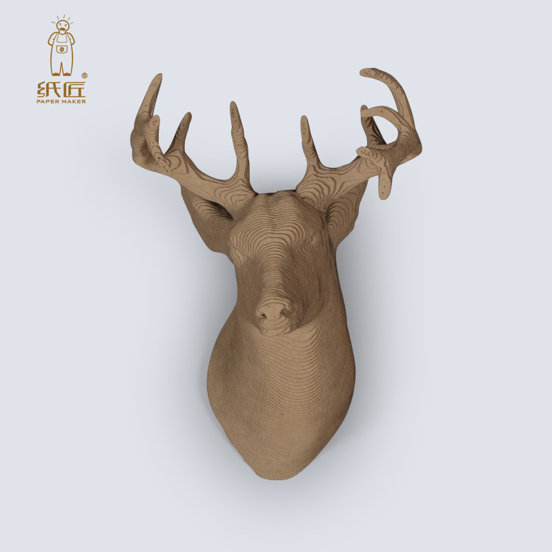 2018 Papermaker Deer Head 3d Puzzle Hobby Paper Craft Children DIY Cardboard Animal Toys Educational Games For Kids Papercraft In Puzzles From