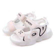 TELOTUNY Baby Sandals Children Letter Beach Led Light Luminous Run Sport Sandals Sneakers