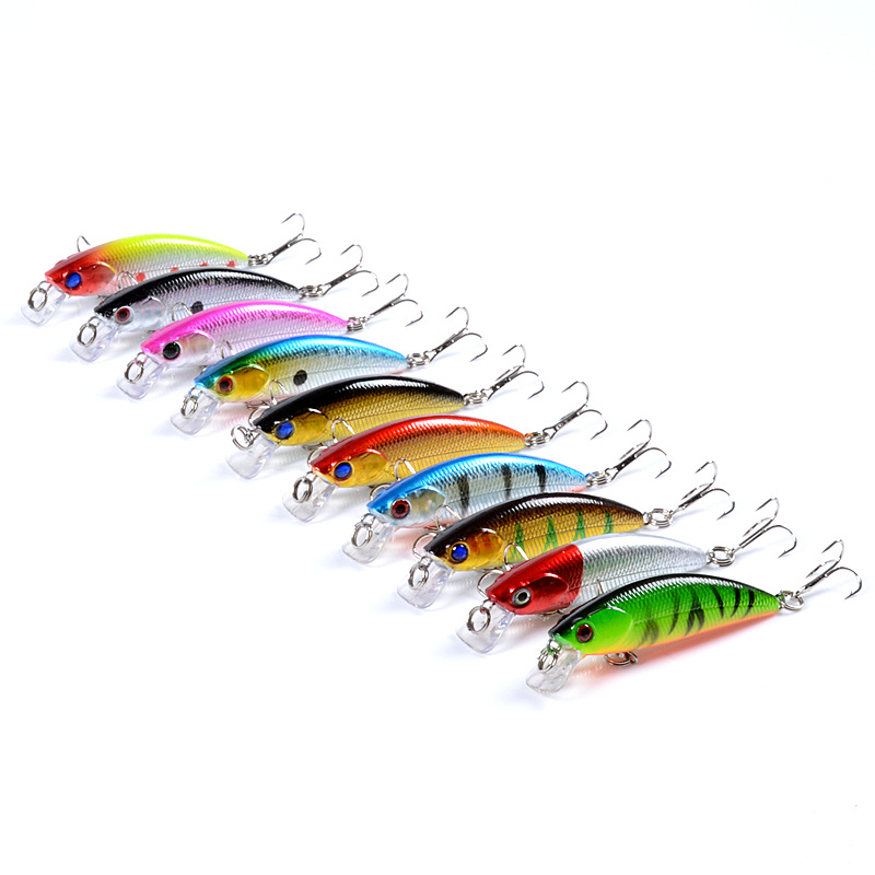 Minnow Fishing bait Outdoors 6.7cm/5g The bionic 3D eye sinking treble hooks Artificial Hard Lure saltwater fishing