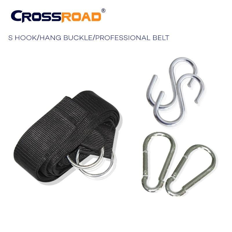 CrossRoad  Hammock Strap rope professional belt with S hooks/hang buckle/2 carabiner harris c midnight crossroad tv tie in