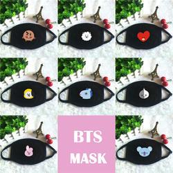 Kpop BTS Bangtan мальчики BT21 CHIMMY COOKY KOYA MANG RJ SHOOKY TATA принт K-pop модные маски для лица унисекс хлопок черный рот маска