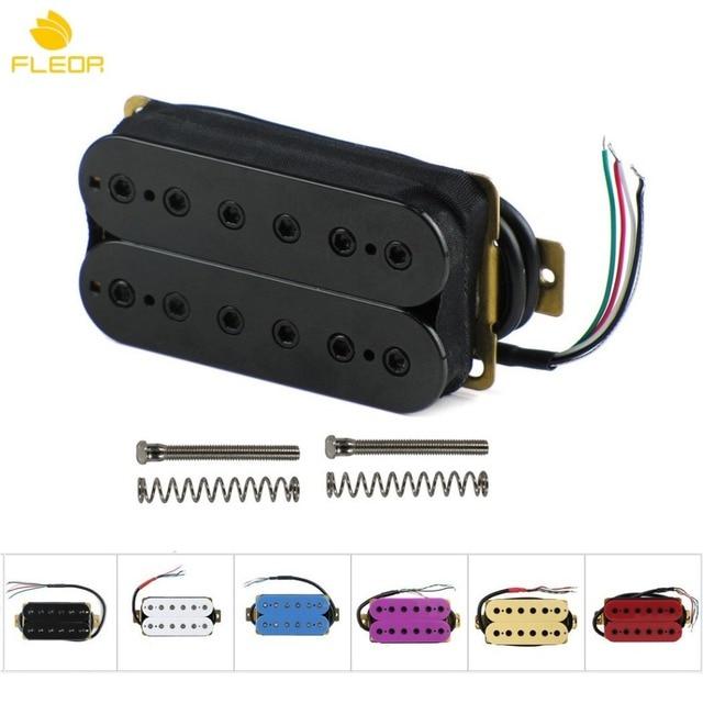 FLEOR 1 Струны для электрогитары Двойной катушечный хамбакер звукосниматель мостовой/шеи пассивный датчик w/высота регулировочные винты разноцветный