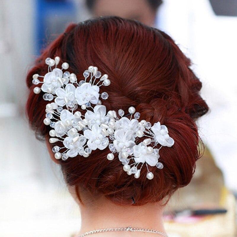6PCSLot Hair Sticks Bridal Wedding Hair Accessories Head