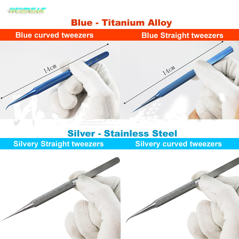 Wozniak Best tweezers Titanium alloy stainless steel Repair Strong fingerprint forceps Precise Acid-fast Anticorrosive Fly line