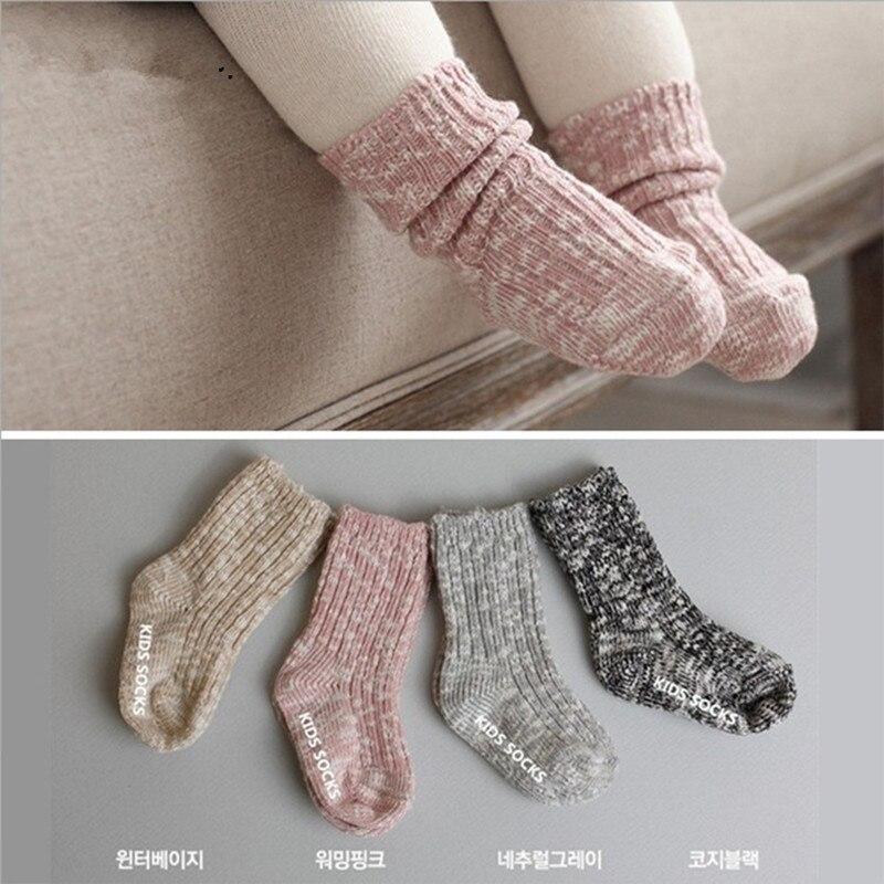 0-4Y Christmas baby Socks autumn winter wool socks baby anti slip socks  Cute Toddler Anti-slip Newborn Socks - Skidders Socks Toddler Promotion-Shop For Promotional Skidders