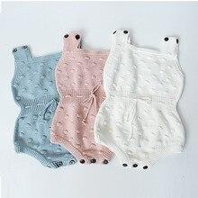 בנות תינוק סריגת בגדי תינוקת שזה עתה נולד Romper Romper לתינוק סרוג אופנה סתיו סרבל ללא שרוולים נערי סוודר בועה