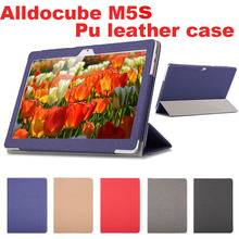 Fashion PU leather Protective Folding Folio Case for alldocube m5s for 10.1inch Tablet PC Cover Case(China)