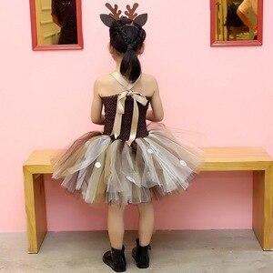 Image 5 - Little Girls Christmas Eve Xmas Dress up Party Dresses Santa Reindeer Costume New Year Tutu Mesh Dresses  Carnival Fancy Dress