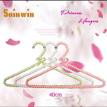 Sainwin 10pcs/lot 40cm Adult Plastic Hanger Pearl Hangers For Clothes Pegs Princess Clothespins Wedding Dress Hanger 10 Color - DISCOUNT ITEM  15% OFF All Category