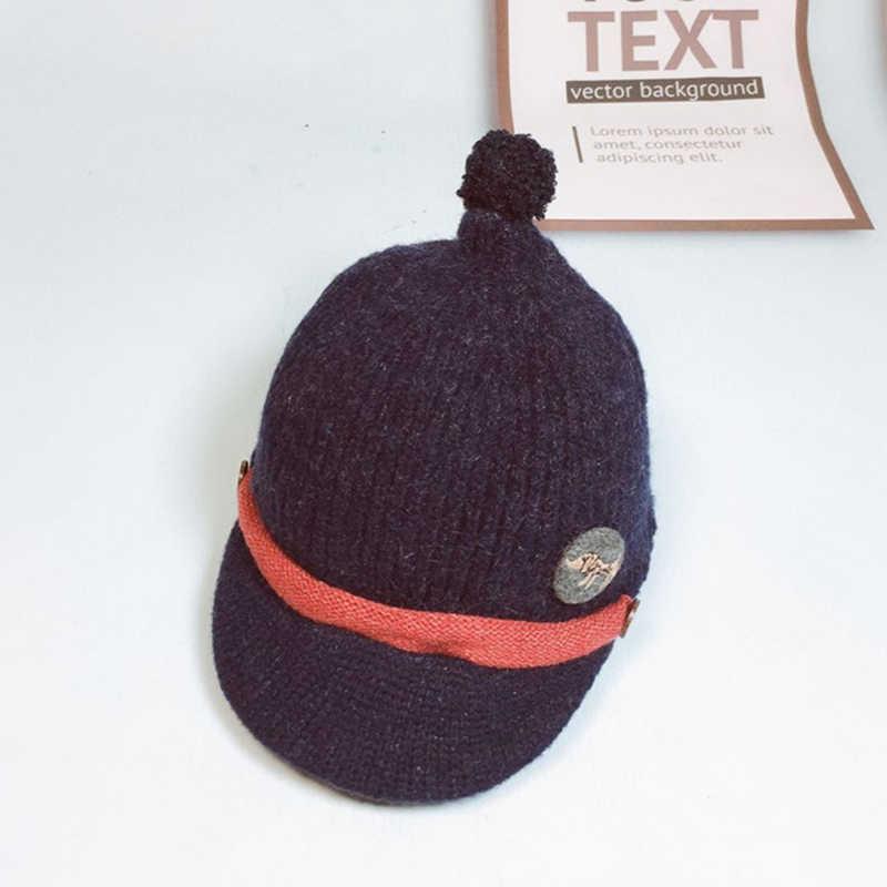 เด็กผ้าฝ้ายถักหมวกฤดูหนาวเด็กน่ารักหมวกสำหรับสาวหูหนาหมวกเด็ก Beanies หมวกเด็กสำหรับ 1-5 ปี GH655