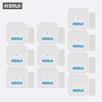 KERUI 5ps 10ps D028 Smart Home Security Portable Anti Tamper Burglar Alarm Window Door Sensor Detector Alarm System Controller