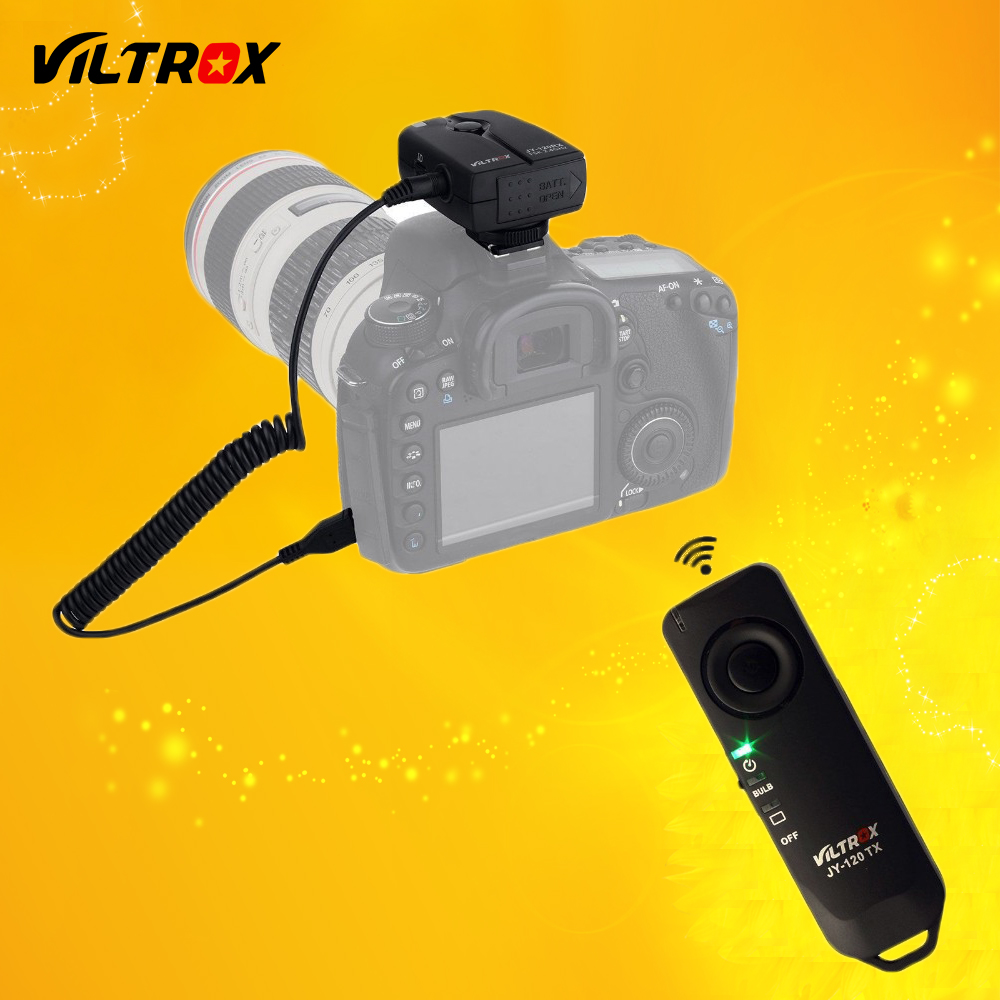 Viltrox JY-120-C3 2.4GHz Wireless Camera Remote Shutter Release for Canon 20D 40D 50D 1D 6D 7D 5D Mark II III IV 7DII rs 80n3 wired remote shutter release for canon 5d mark iii 5d mark ii more black 85cm cable
