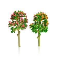 ABS plastic model miniature flower color trees HO N scale landscape train scenery street road