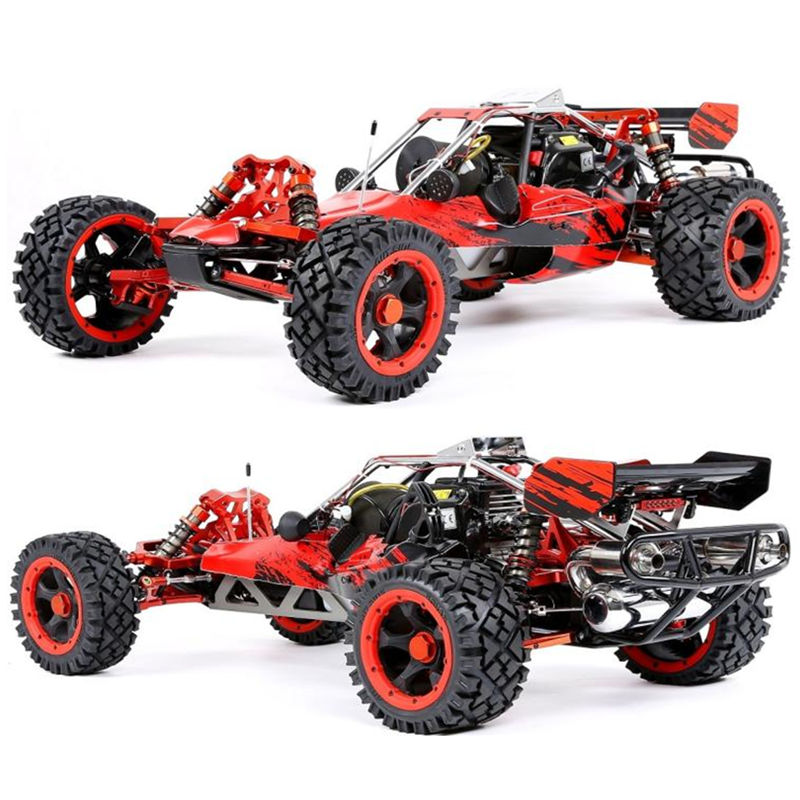 RUFAN Rovan 1/5 весы Baja 5B 450 45CC бензин двигатели для автомобиля сплав спереди и сзади рука со светодио дный подсветкой симметричный руля RC 2WD грузов...