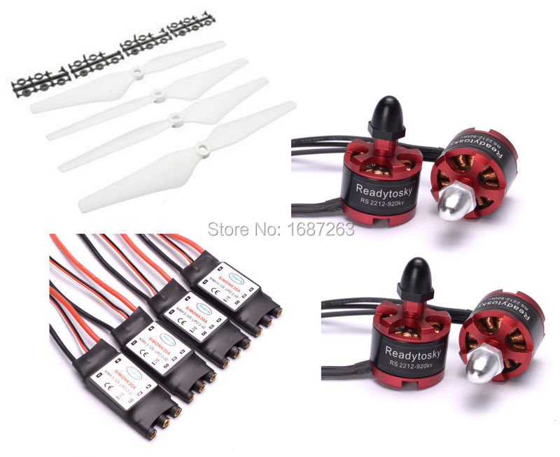 2212 920KV CW CCW Brushless Motor 30A Simonk ESC with 3 5mm Connector 9450 Props for