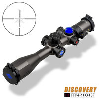 Discovery HI 4 14X44SF FFP Scope Tactical Hunting Riflescope First Focal Plane Sights Windage Reticle With Angle Indicated