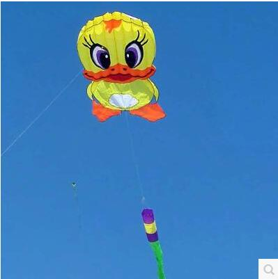 Free Shipping High Quality 6m Giant Duck Soft Kite Ripstop Nylon Fabric Kite Weifang Festival Large Kite Wheel Walk In Sky Toys