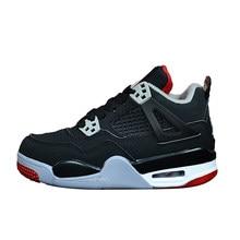 c2b304de7de026 Retro 4 AIR King JORDAN Children Basketball Shoes bred Tattoo Raptor Black  Cat White Cement Boy Girl Sport Sneakers Hot Sale