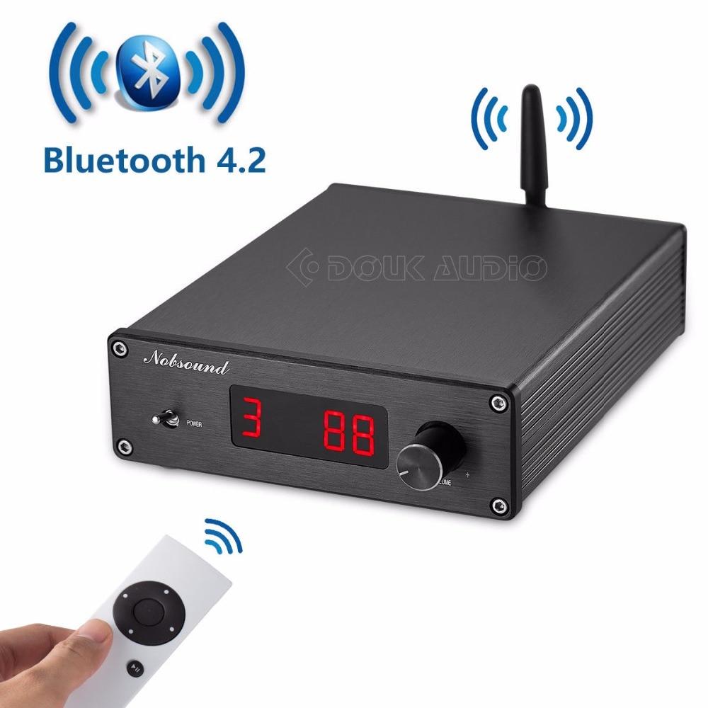 Nobsound PGA2310 Bluetooth 4 2 Audio Receiver Hi Fi Preamplifier Remote Control