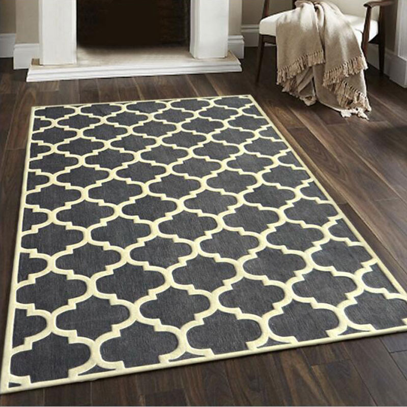 200X300 cm mode haute qualité tapis fait à la main acrylique salon chambre rayures canapé coussin rectangulaire tapis et tapis