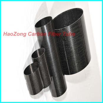 5.0mm Thickness Glossy Surface  3K Carbon Fiber Tube Roll Wrapped OD30mm 35mm x500mm  Carbon fiber Wing tube /Pipe