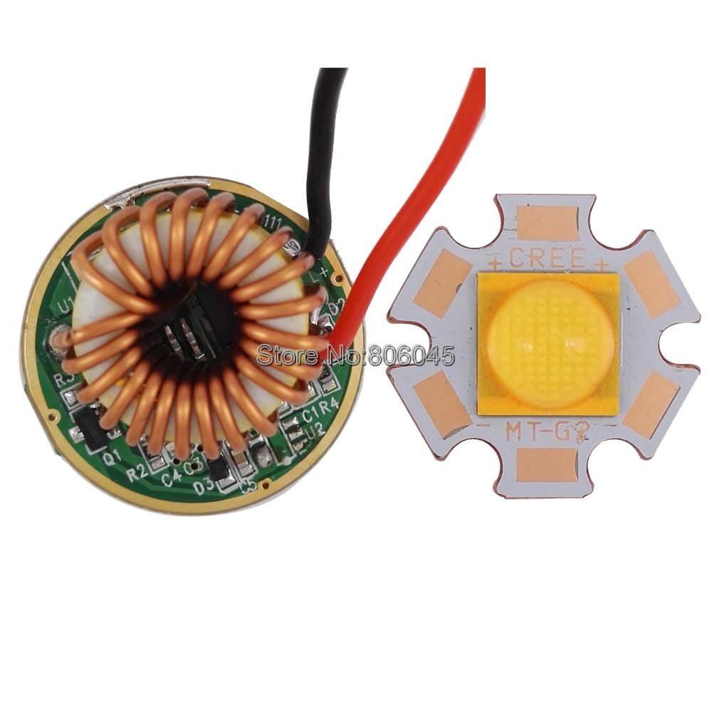 Cree XLamp CXA MTG-2 MTG2 18W 18V 1A Warm White 3000K High Power LED Emitter Diode + DC12-15V 26mm 1 Mode 5 Mode MT-G2 Driver