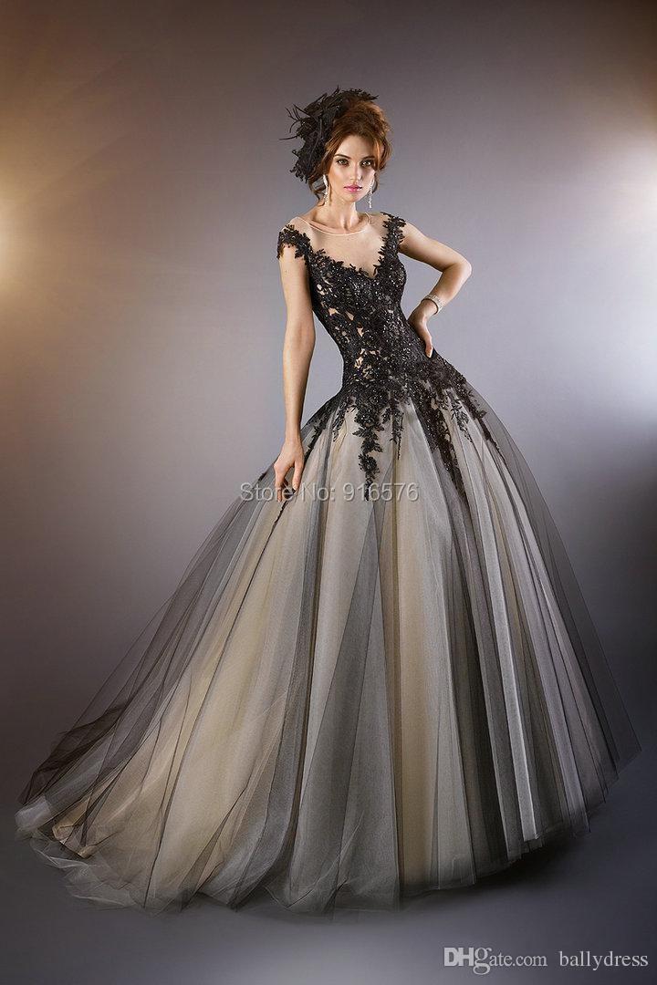 Black Wedding Dresses With Sleeves