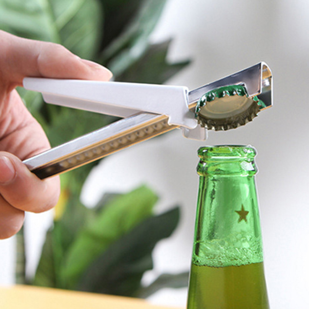 adjustable stainless steel multifunctional jar openers and anti-hand sliding quick bottle opener