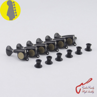 1 Set Original Genuine 6 In line GOTOH SGS510Z S5 Left Hand Guitar Machine Heads Tuners ( Black ) MADE IN JAPAN