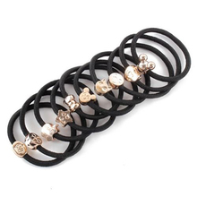 Hot 10Pcs Girl Lovely Bead Rubber Elastic Hair Band Rope Scrunchie Ponytail Holder 7FPZ