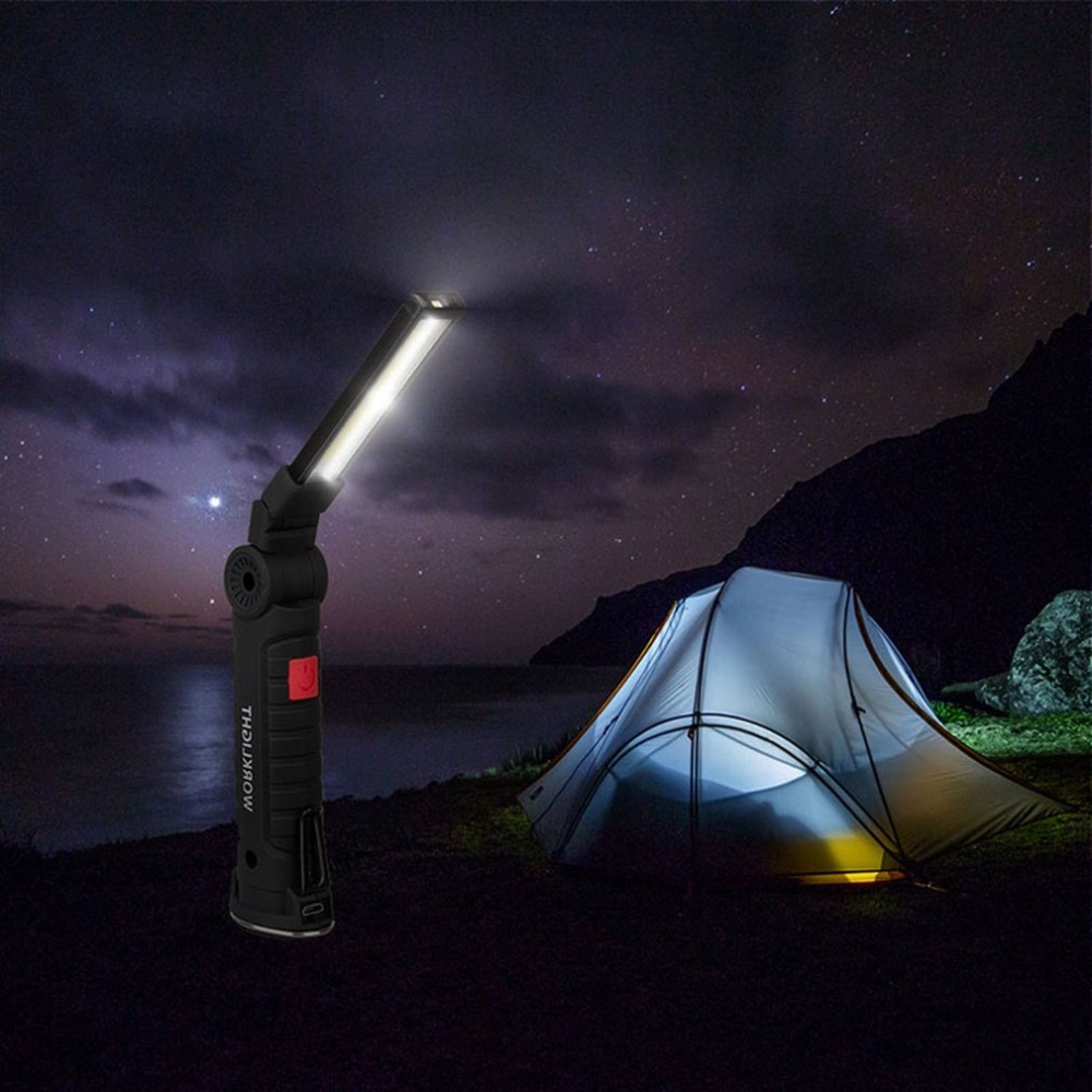 Super Bright COB LED Flashlight Work Light with strong magnetic Hook Light for Outdoor Travel Night Riding Factory