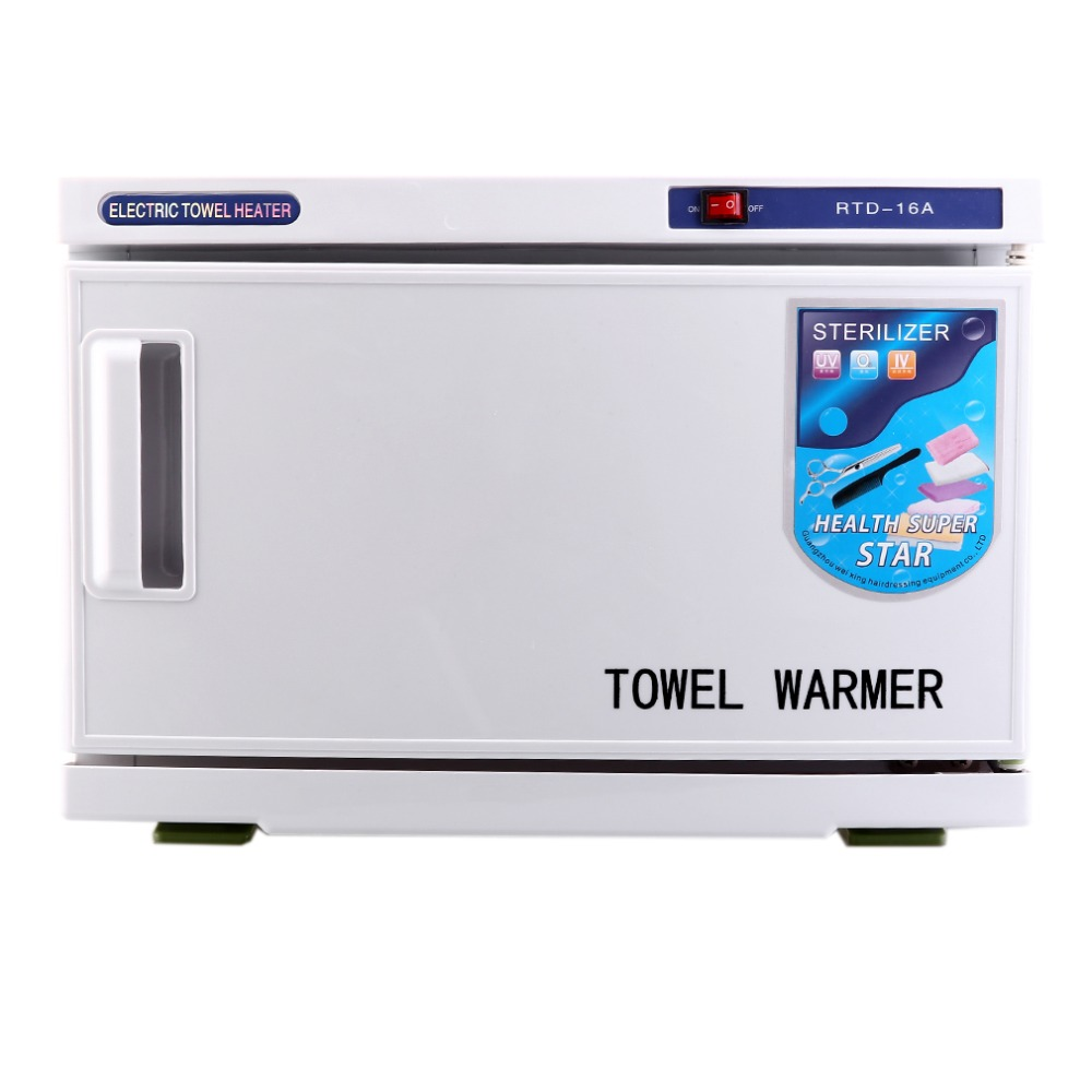 16L Capacity Multifunctional 2 In 1 Towel Warmer Cabinet Sterilizer Strong UV Reflection Disinfection Equipment Tool US Plug