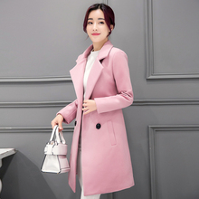 Ms Spring and Autumn In the long section Thicker Self-cultivation Was thin Woolen jacket